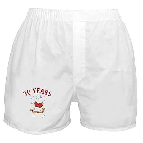 30th Festive Hearts Boxer Shorts