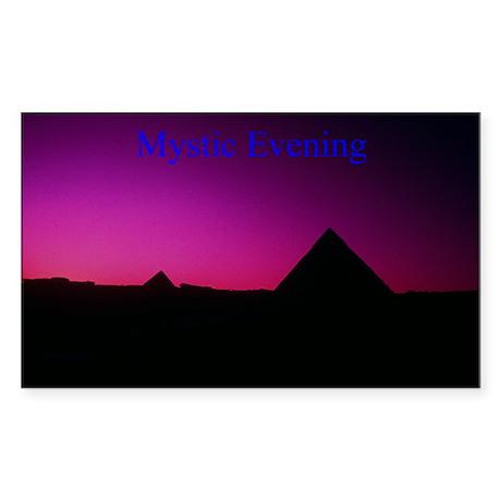 Giza Plain Rectangle Sticker