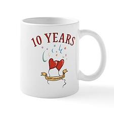 10th Festive Hearts Small Mug
