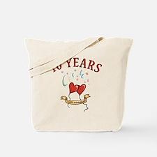 10th Festive Hearts Tote Bag