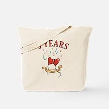 5th Festive Hearts Tote Bag