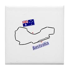Albert Park, Australia Tile Coaster