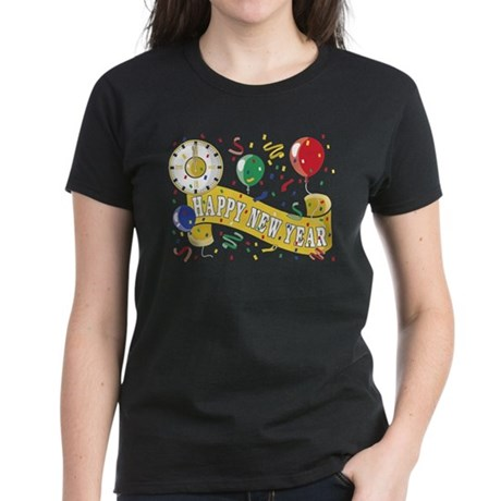Happy New Year Women's Dark T-Shirt