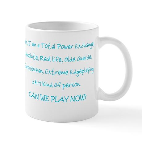 Can we play now? (Black) Mug