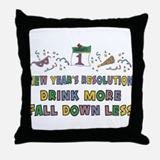 Funny New Year's Resolution Throw Pillow