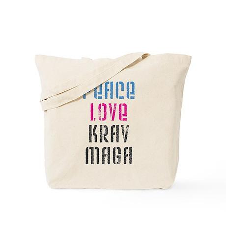 Peace Love Krav Maga Tote Bag