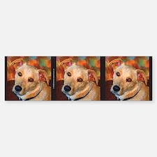 Labrador Retriever-Yellow Bumper Bumper Bumper Sticker