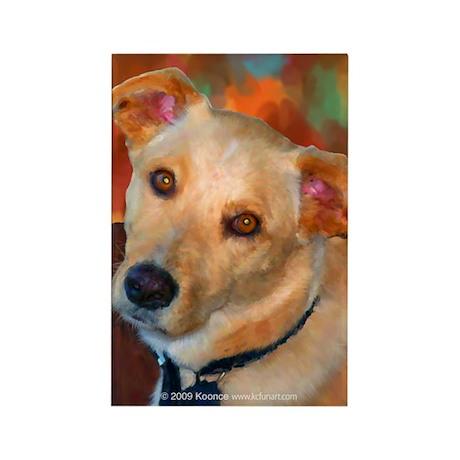 Labrador Retriever-Yellow Rectangle Magnet