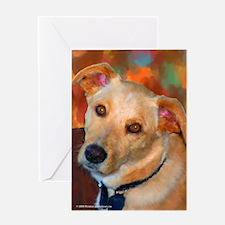 Labrador Retriever-Yellow Greeting Card