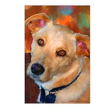 Labrador Retriever-Yellow Postcards (Package of 8)