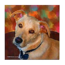 Labrador Retriever-Yellow Tile Coaster