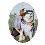 Oval Ornament Alaskan Malamute