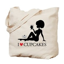 I Love Cupcakes, Tote Bag