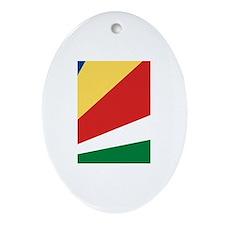 Seychelles Flag Oval Ornament