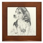 Framed Tile Beagle