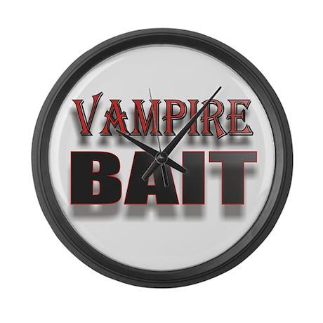 VAMPIRE BAIT 1 Large Wall Clock