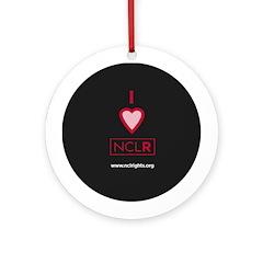 I Heart NCLR Decorative Ornament