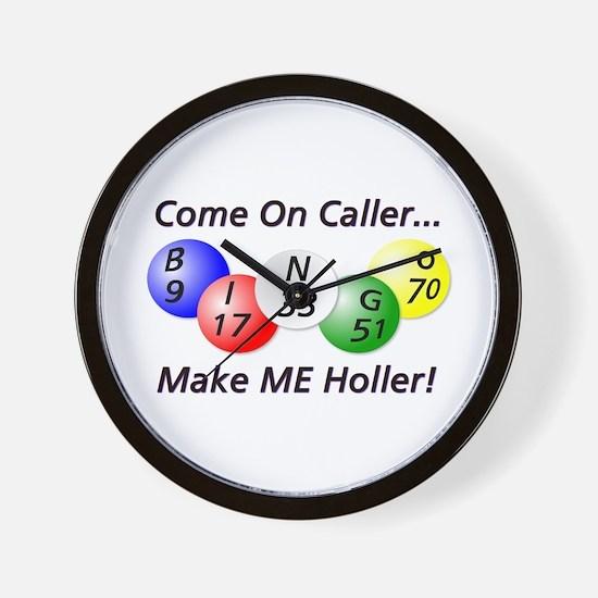 Come on Caller! Bingo! Wall Clock