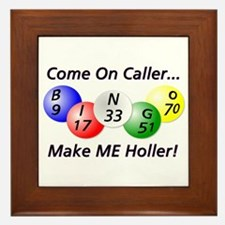Come on Caller! Bingo! Framed Tile