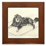 Framed Tile Border Collie