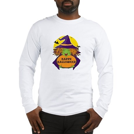 Witch and Cauldron Long Sleeve T-Shirt