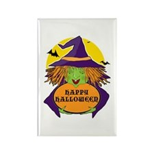 Witch and Cauldron Rectangle Magnet