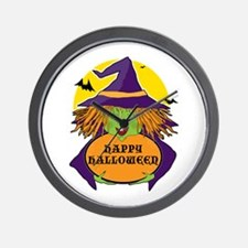 Witch and Cauldron Wall Clock