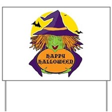 Witch and Cauldron Yard Sign