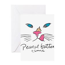 Cute Abyssinian cat Greeting Card