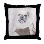 Throw Pillow Bull dog