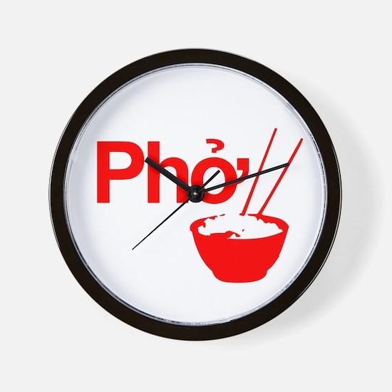 Funny Pho Wall Clock