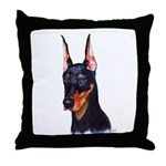 Throw Pillow Doberman