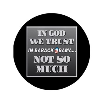 """In God We Trust 3.5"""" Button (100 pack)"""