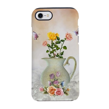 Butterflies and Roses iPhone 7 Tough Case