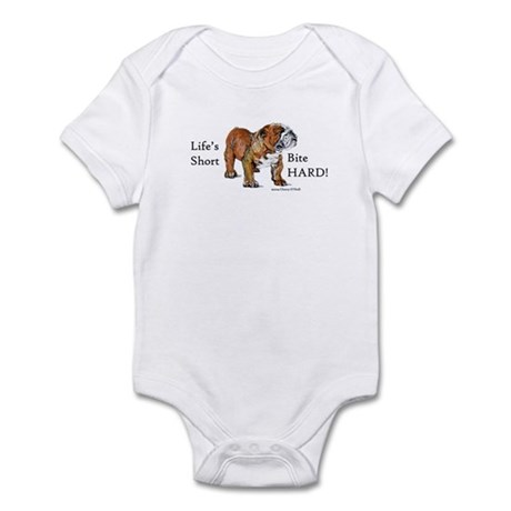 Bulldogs Life Motto Infant Bodysuit