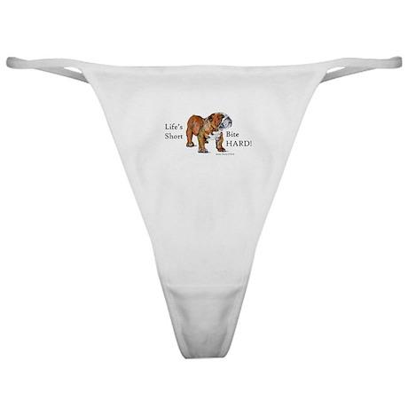 Bulldogs Life Motto Classic Thong