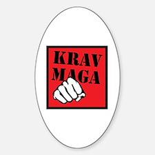 Krav Maga with Fist Oval Decal