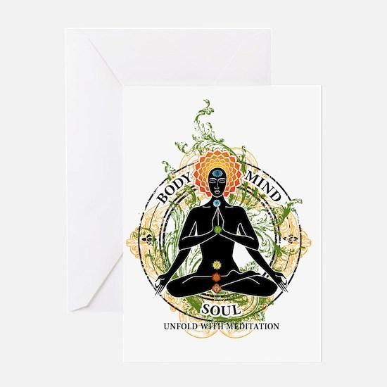 Yoga : Body Mind & Soul Greeting Cards