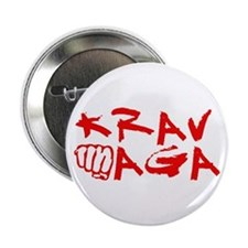 "Krav Maga Red 2.25"" Button"