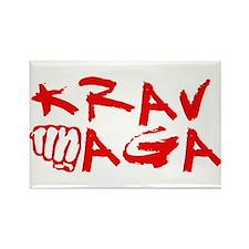 Krav Maga Red Rectangle Magnet