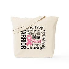 Warrior Breast Cancer Tote Bag