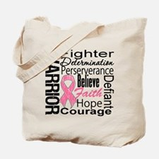 Warrior Breast Cancer Tote Bag