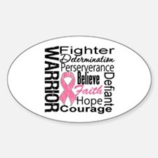 Warrior Breast Cancer Oval Decal
