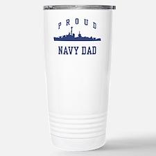 Proud Navy Dad Travel Mug