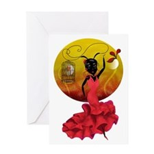 Passion and Flamenco (2) Greeting Card