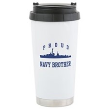 Proud Navy Brother Travel Coffee Mug