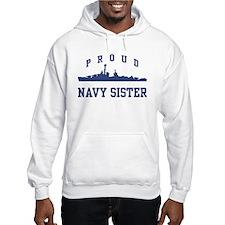 Proud Navy Sister Jumper Hoody