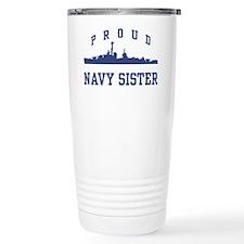 Proud Navy Sister Travel Mug
