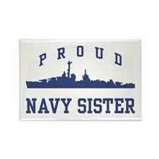 Proud Navy Sister Rectangle Magnet