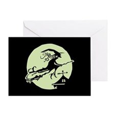 Witch Vane Moon Greeting Card